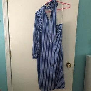 NWOT Banana Republic Striped One Shoulder Dress
